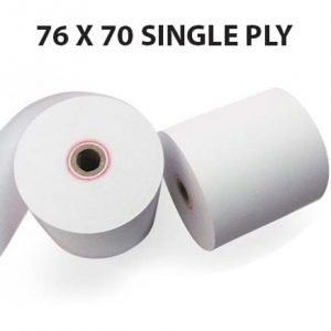 CBE 1 Ply Kitchen Printer Roll 76 x 70 (Box of 40 Rolls)