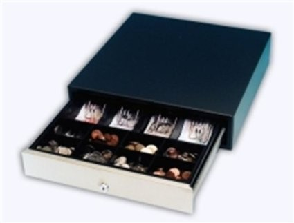 INT Sml Roll-Out Cash Drawer (Black & Silver)