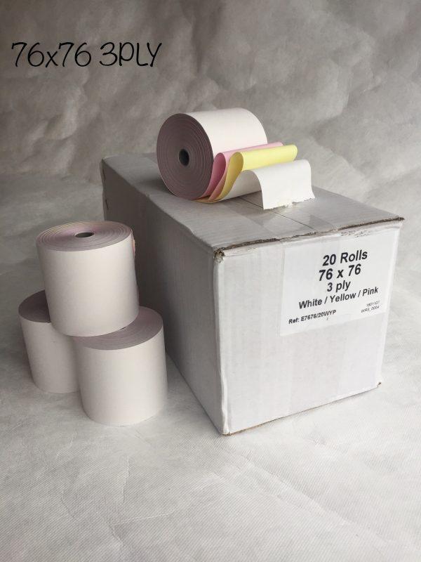 CBE 3-Ply Kitchen Printer Roll 76 x 76 (Box of 20 Rolls)