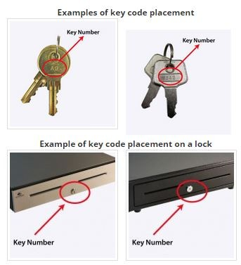Cash Drawer Keys